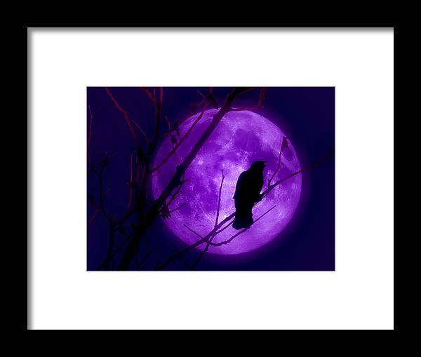 Moon Framed Print featuring the photograph Calling Out To The Night by Kenneth Krolikowski