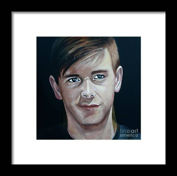 Portrait Framed Print featuring the painting Callum E.a.r.l.s. by Fiona Jack