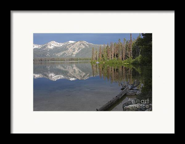 Stanley Lake Framed Print featuring the photograph Calm Before The Storm by Idaho Scenic Images Linda Lantzy