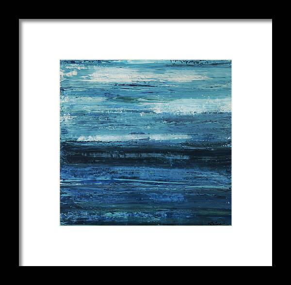 Blue Framed Print featuring the painting Calm by K Batson Art