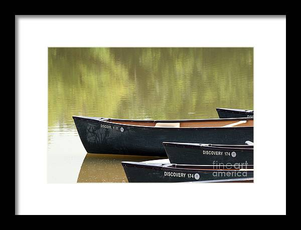 Canoe Framed Print featuring the photograph Calm Morning by Jeannie Burleson
