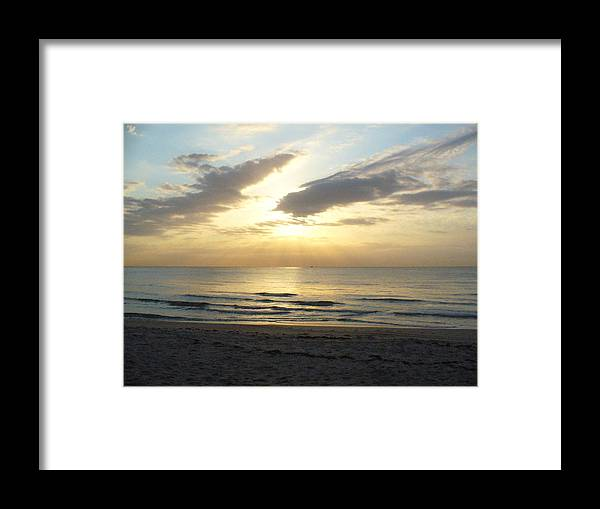 Seashore Framed Print featuring the photograph Calm Seas by Peggy King