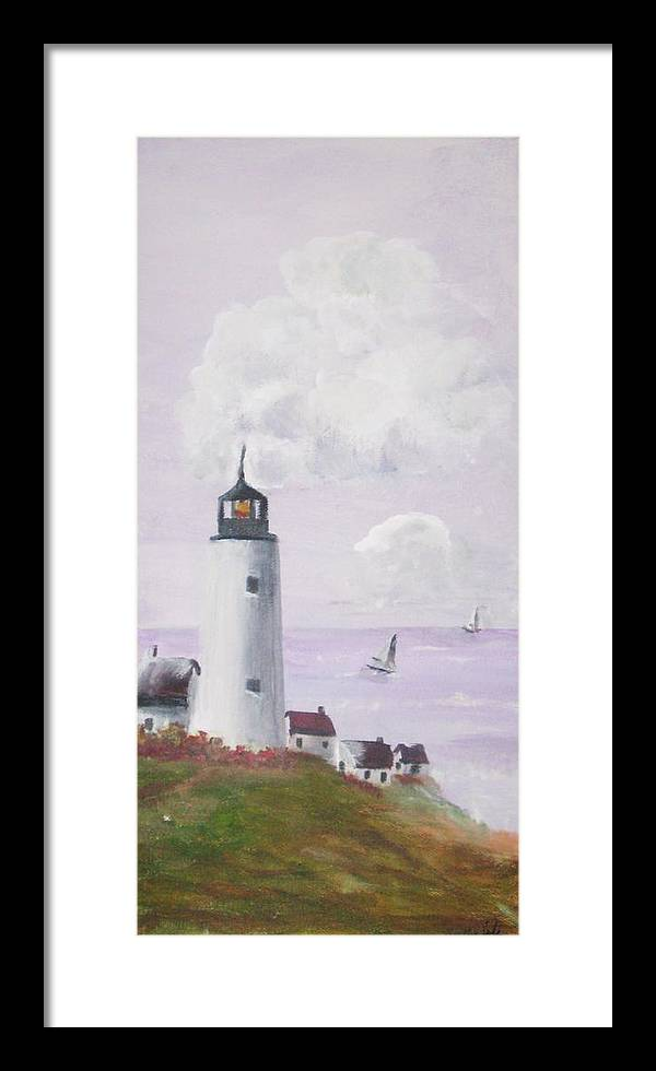 Framed Print featuring the painting Calm Seas by Trilby Cole