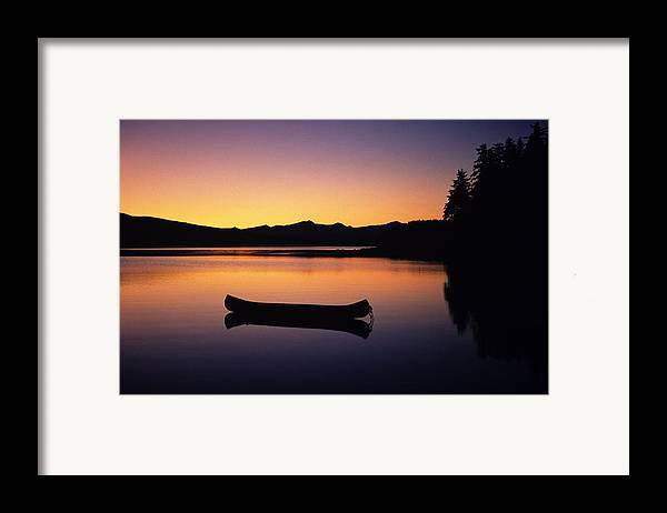 Adventure Framed Print featuring the photograph Calming Canoe by John Hyde - Printscapes