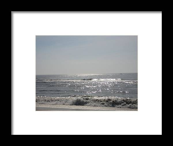 Ocean Framed Print featuring the photograph Calming Waves by Jennifer Sweet