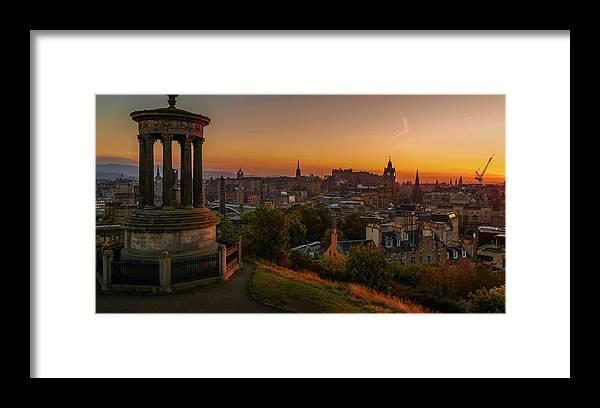 Calton Hill Framed Print featuring the photograph Calton Hill by Lubomir Mihalik
