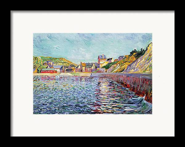 Port-en-bessin Framed Print featuring the painting Calvados by Paul Signac