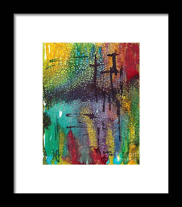 Cross Framed Print featuring the painting Calvary by Susan Kubes