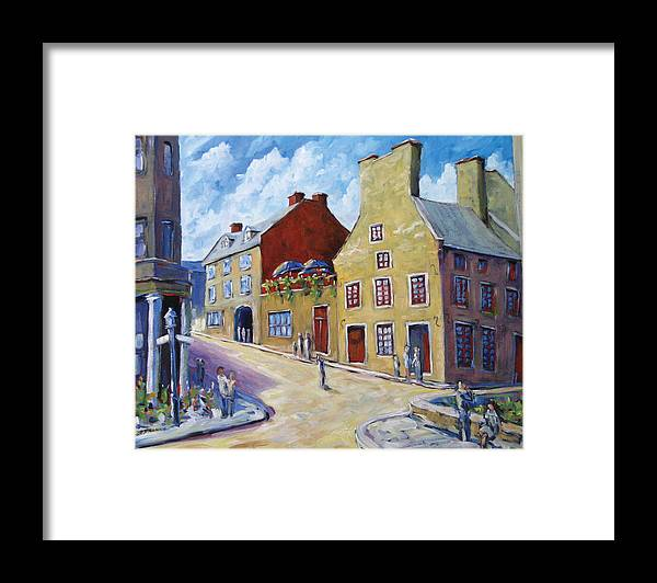 Rural Framed Print featuring the painting Calvet House Old Montreal by Richard T Pranke
