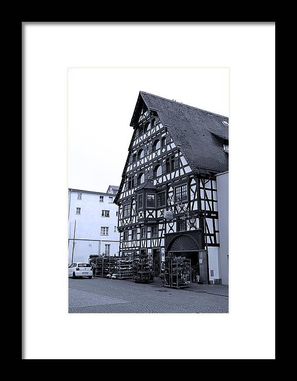 Half Timbered Framed Print featuring the photograph Calw A History Laden Town 01 by Martin Michael Pflaum