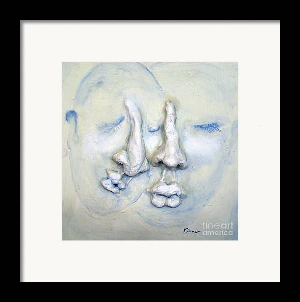 Portraits Framed Print featuring the painting Camaraderie by Kime Einhorn