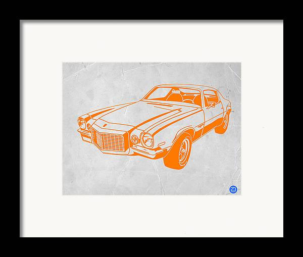 Framed Print featuring the photograph Camaro by Naxart Studio