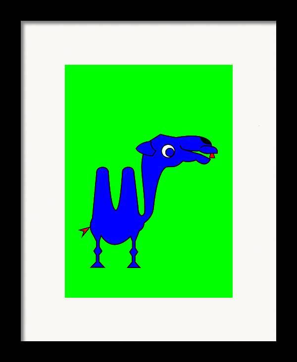 Camel Framed Print featuring the digital art Camel by Asbjorn Lonvig