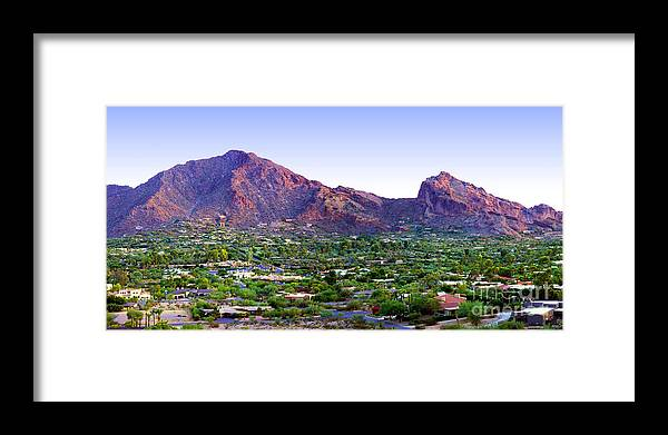 Camelback Mountain Framed Print featuring the photograph Camelback Mountain, Phoenix, Arizona by Wernher Krutein