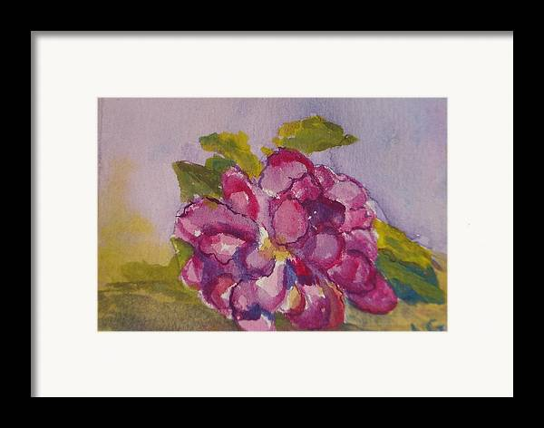 Flower Framed Print featuring the painting Camellia by Lessandra Grimley