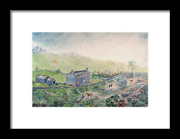 Horse Framed Print featuring the painting Camelot by Richard Barham