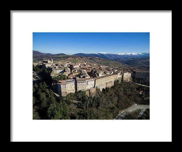 Marche Framed Print featuring the photograph Camerino Italy - Aerial Image by David Daniel