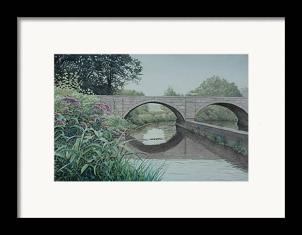 Landscape Framed Print featuring the painting Camillus Canal by Stephen Bluto