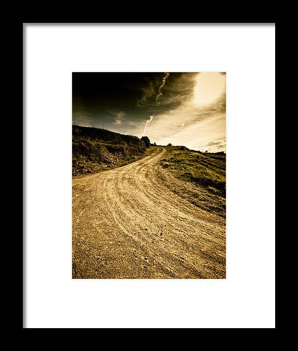 Path Framed Print featuring the photograph Camino Rural by Felix M Cobos