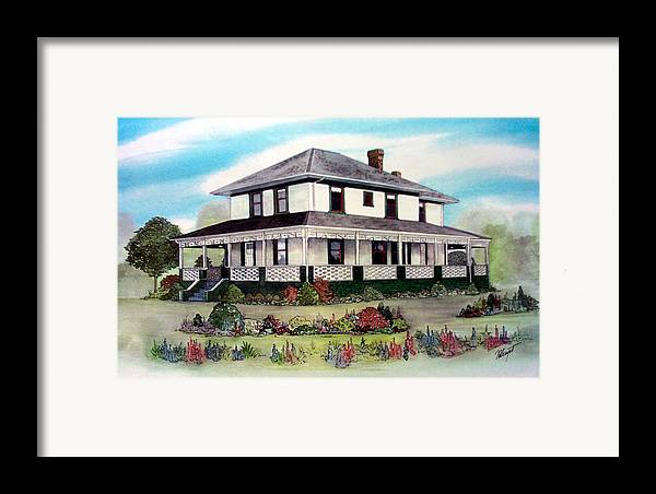 House Framed Print featuring the painting Cammidge House by Victoria Heryet