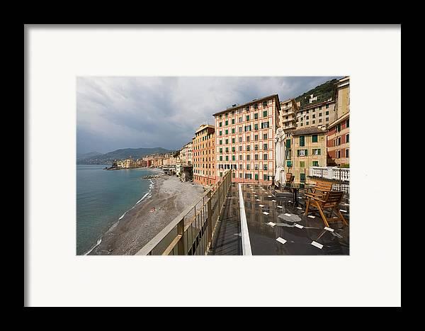 Italy Framed Print featuring the photograph Camogli 4 by Luigi Barbano BARBANO LLC