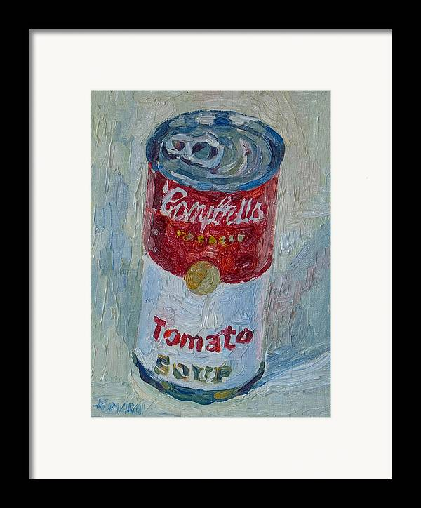 Campbell's Soup Framed Print featuring the painting Campbell's Soup by Vitali Komarov