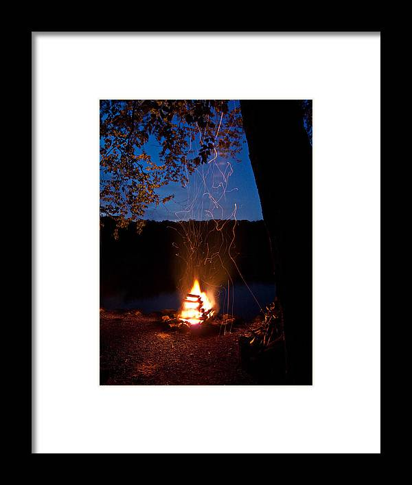 Campfire Framed Print featuring the photograph Campfire At Dusk by Jim DeLillo