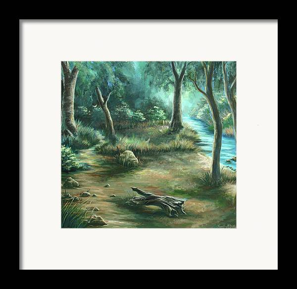 Landscape Framed Print featuring the painting Camping At Figueroa Mountains by Jennifer McDuffie