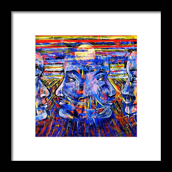 Confrontation Framed Print featuring the painting Can Not Live A Lie by Rollin Kocsis