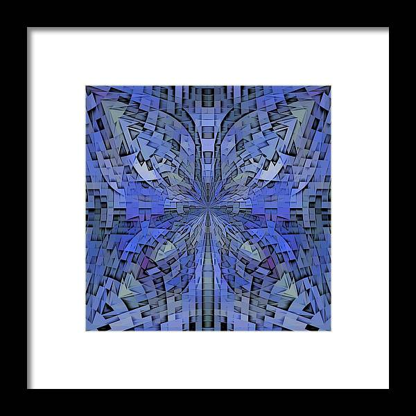 Abstract Framed Print featuring the digital art Can You Hear Me Now by Tim Allen