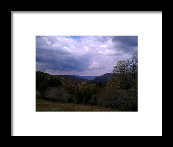 Canaan Valley Framed Print featuring the photograph Canaan Valley Cloudy Sky by William Lively