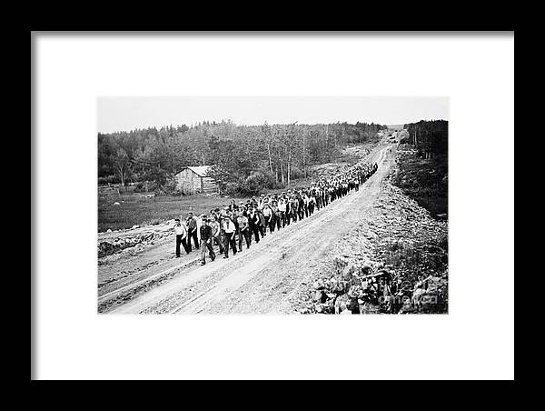 1935 Framed Print featuring the photograph Canada: Unemployed, 1935 by Granger