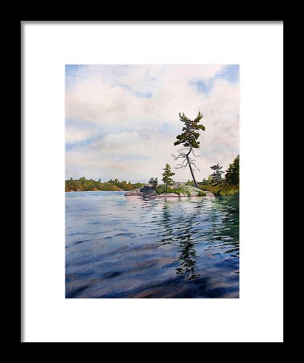 Lake Framed Print featuring the painting Canadian Shield Sculpture by Debbie Homewood
