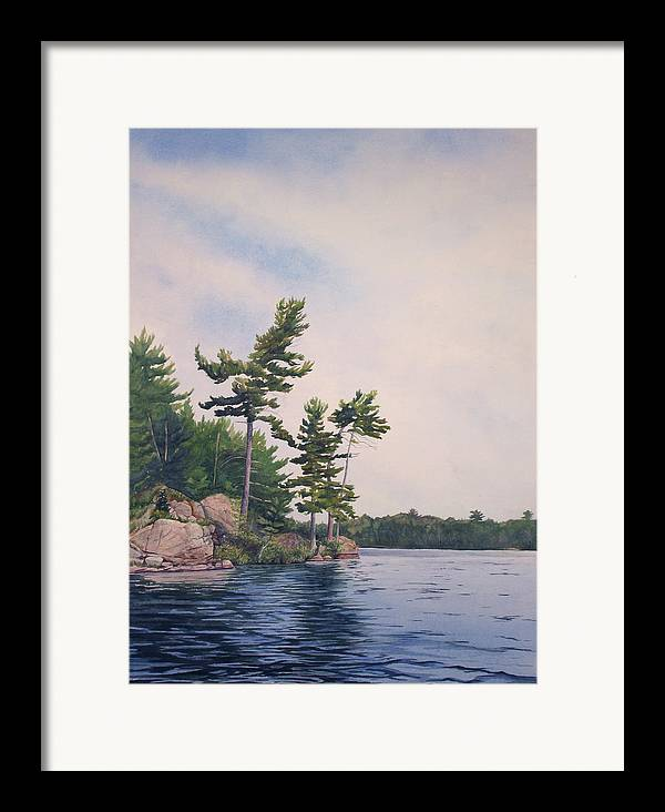Canadian Shield Framed Print featuring the painting Canadian Shield Sculpture No. 2 by Debbie Homewood