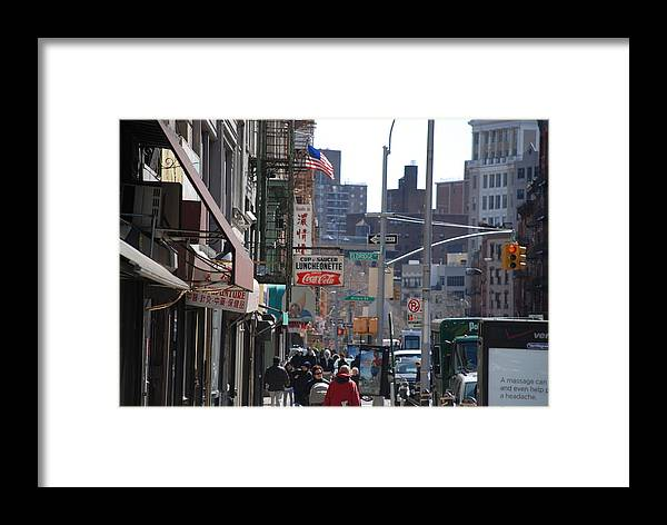 Architecture Framed Print featuring the photograph Canal And Eldridge by Rob Hans