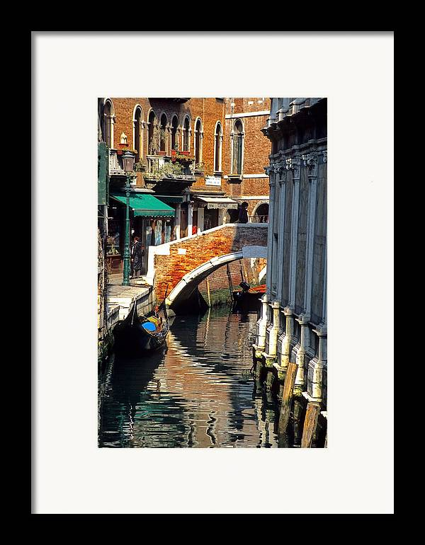 Venice Framed Print featuring the photograph Canal Next To Church Of The Miracoli In Venice by Michael Henderson