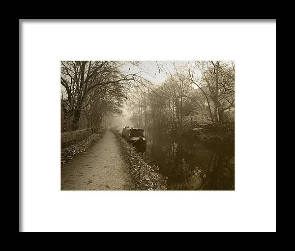 Canal Framed Print featuring the photograph Canal by Steve Watson