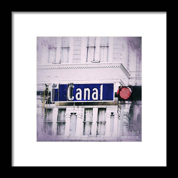 New Orleans Framed Print featuring the photograph Canal Street In The Big Easy by Paul Wilford