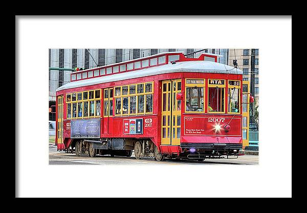 The Canal Street Streetcar Framed Print featuring the photograph Canal Street Streetcar by JC Findley