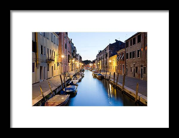 Venezia Framed Print featuring the photograph Canale Blu by Marco Missiaja