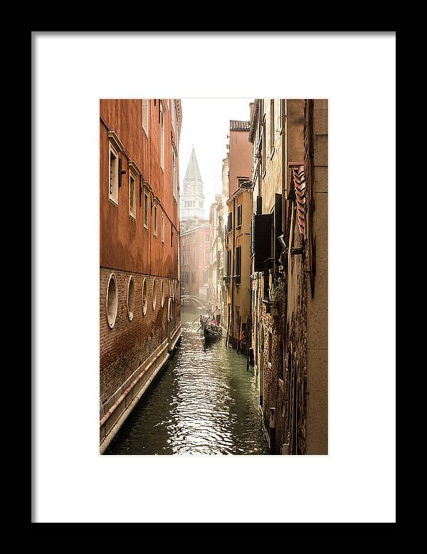 Venezia Framed Print featuring the photograph Canale ponte de lovo by Marco Missiaja