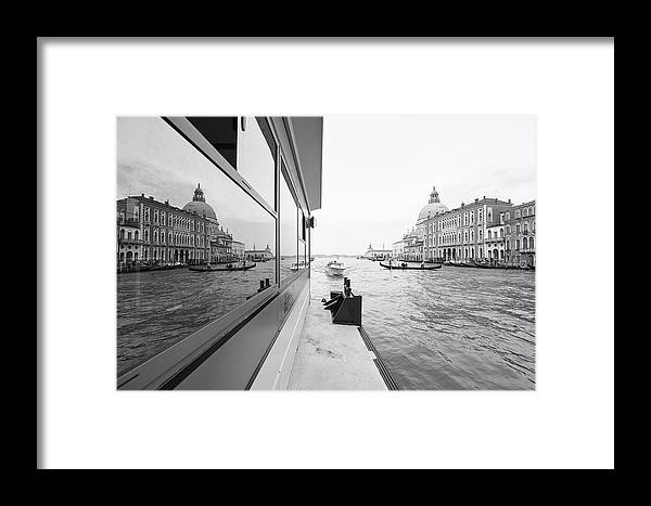 Venice Framed Print featuring the photograph Canale Riflesso by Marco Missiaja