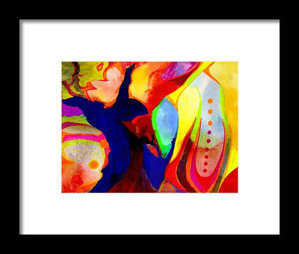 Watercolor Framed Print featuring the painting Cancun 14 by Peter Shor