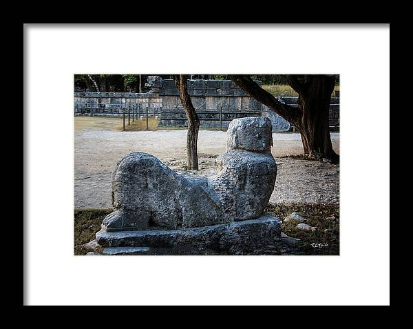 Cancun Framed Print featuring the photograph Cancun Mexico - Chichen Itza - Mayachacmool by Ronald Reid