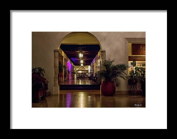 Cancun Framed Print featuring the photograph Cancun Mexico - Chichen Itza - Mayan Dining Hall by Ronald Reid