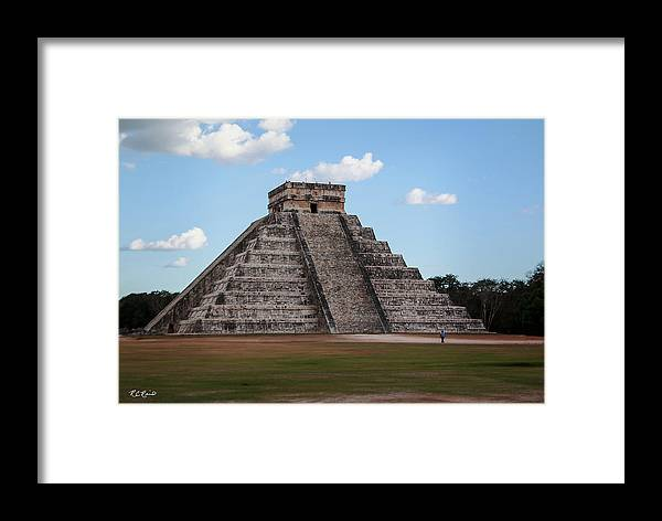 Cancun Framed Print featuring the photograph Cancun Mexico - Chichen Itza - Temple Of Kukulcan-el Castillo Pyramid 2 by Ronald Reid