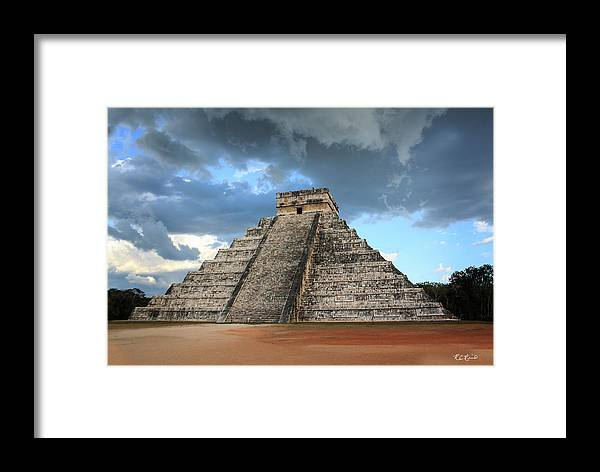 Cancun Framed Print featuring the photograph Cancun Mexico - Chichen Itza - Temple Of Kukulcan-el Castillo Pyramid 3 by Ronald Reid