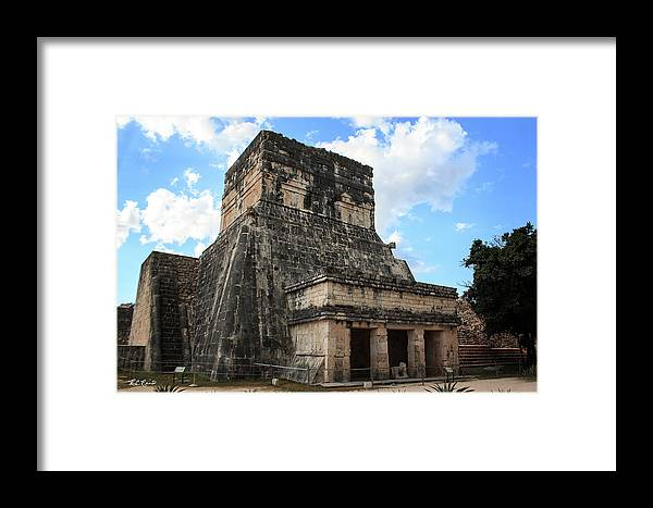 Cancun Framed Print featuring the photograph Cancun Mexico - Chichen Itza - Temples Of The Jaguar On The Great Ball Court by Ronald Reid