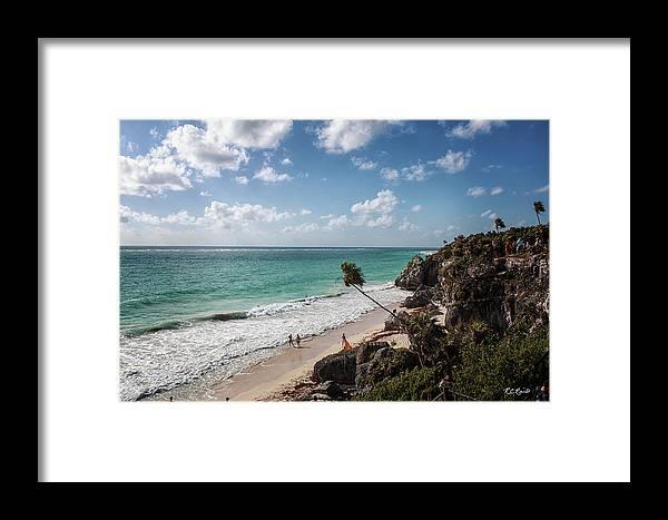 Cancun Framed Print featuring the photograph Cancun Mexico - Tulum Ruins - Caribbean Beach by Ronald Reid