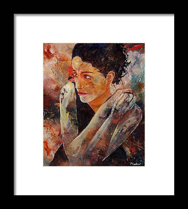 Figurative Framed Print featuring the painting Candid Eyes by Pol Ledent